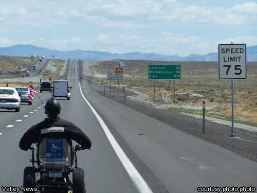 Chet hit the road to raise awarenss for spinal cord injury.