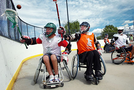 Wheelchair Lacrosse is the most exciting full-contact wheelchair sport to be created since wheelchair rugby!