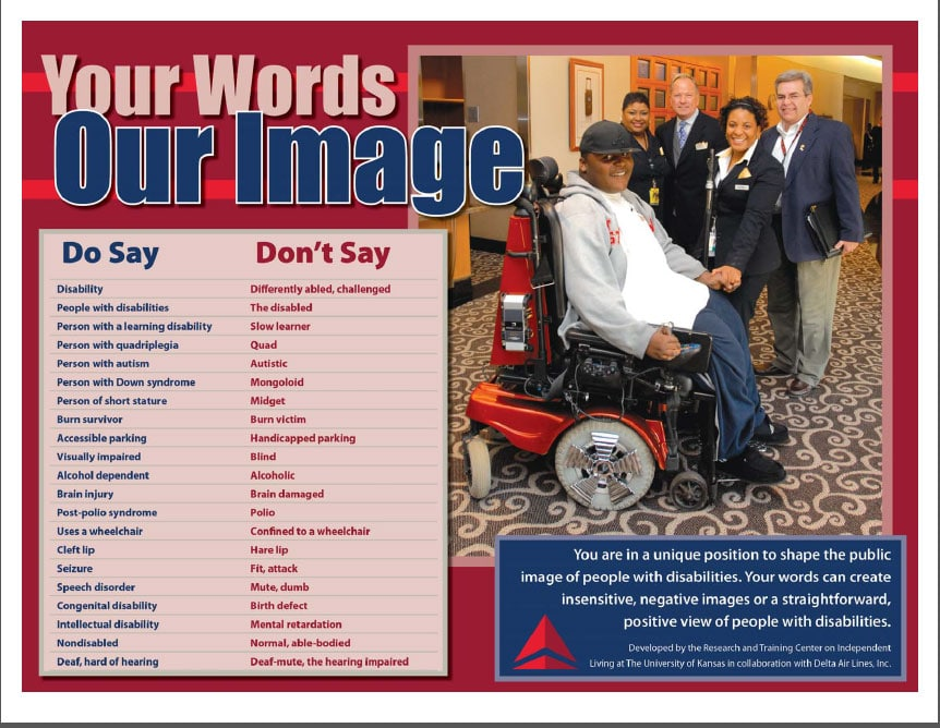 Delta employees are trained to use specific, appropriate words when working with customers.