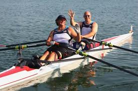 Angela Madsen, in front, is one of the leading paraplegic rowers in the world, and has set the groundwork for this kind of research project.