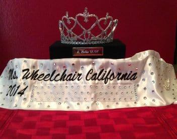 Tiffany's crown (Photo courtesy of Ms. Wheelchair California Inc.)