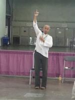 Yoga instructor Archimedes de Leon
