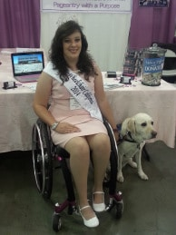Tiffany and her Service dog at the 2014 Abilities Expo