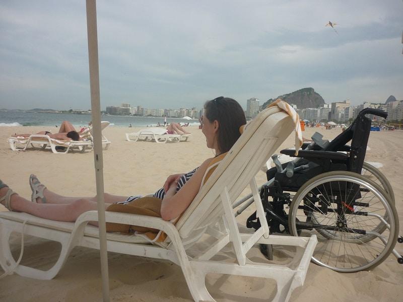 Copacabana Beach in Brazil.