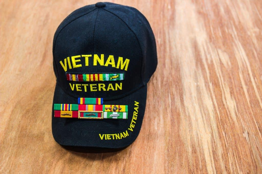 Vietnam Vet's Hat & Service Ribbons