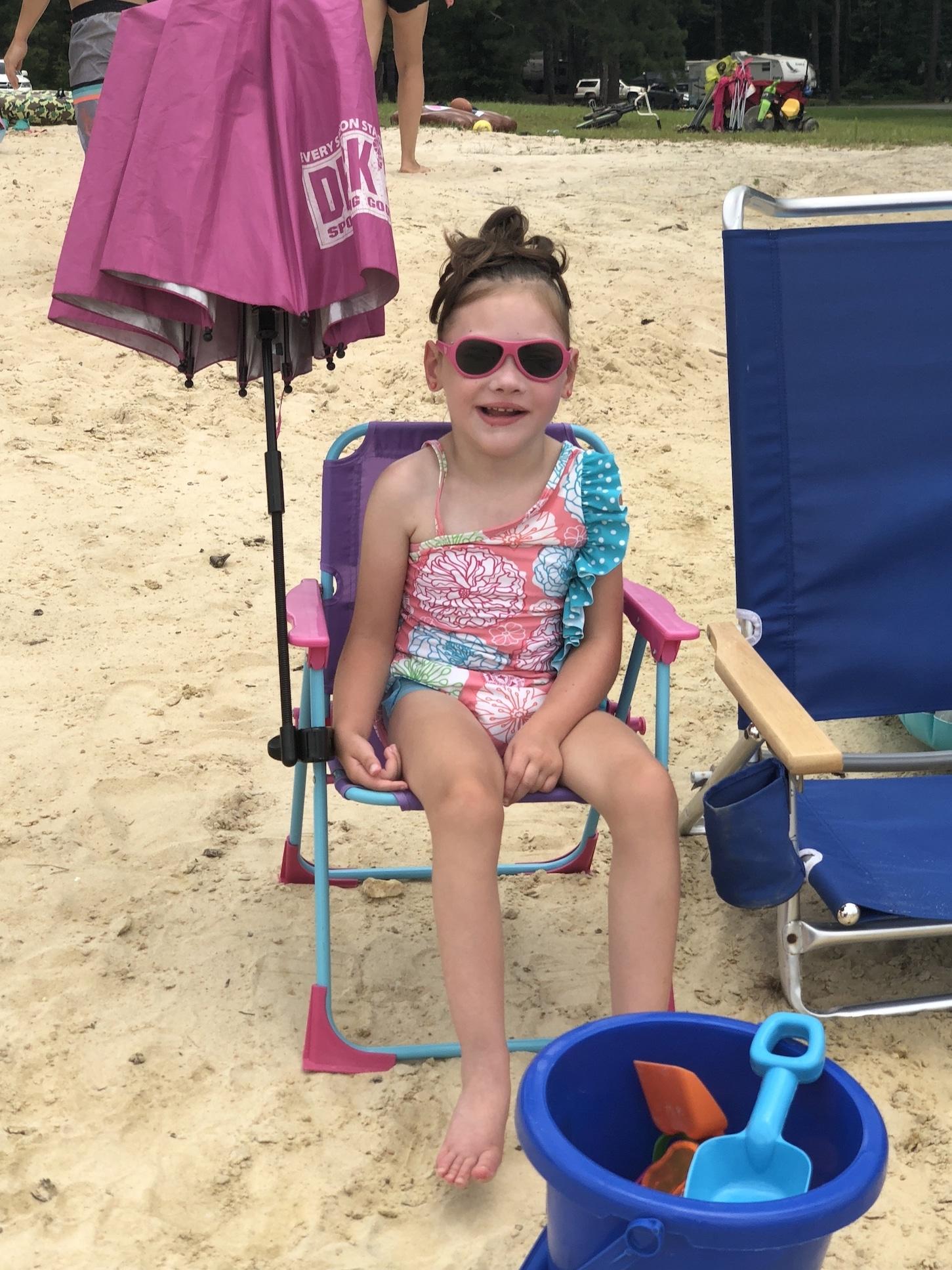 Kessley at beach