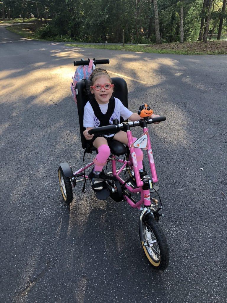 Kessley and her bike