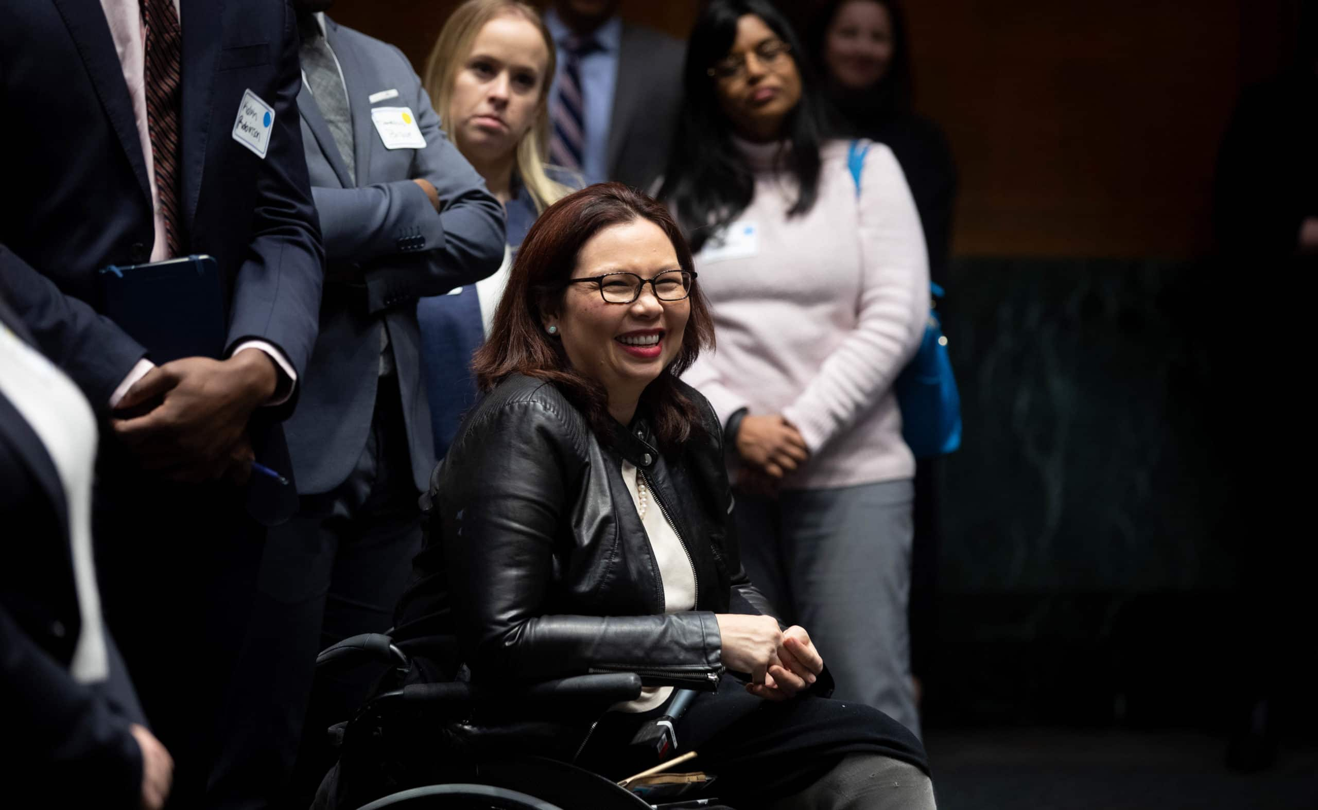 Senator Duckworth in her wheelchair