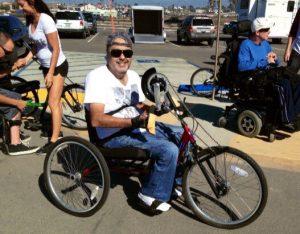 Ray on adaptive bike